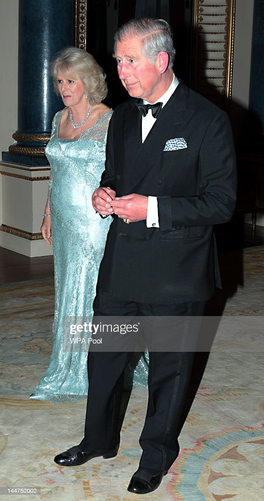 <a gi-track='captionPersonalityLinkClicked' href=/galleries/search?phrase=Prince+Charles+-+Prince+of+Wales&family=editorial&specificpeople=160180 ng-click='$event.stopPropagation()'>Prince Charles</a>, Prince of Wales and <a gi-track='captionPersonalityLinkClicked' href=/galleries/search?phrase=Camilla+-+Duchess+of+Cornwall&family=editorial&specificpeople=158157 ng-click='$event.stopPropagation()'>Camilla</a>, Duchess of Cornwall host a dinner for foreign Sovereigns to commemorate the Diamond Jubilee at Buckingham Palace on May 18, 2012 in London, England. <a gi-track='captionPersonalityLinkClicked' href=/galleries/search?phrase=Prince+Charles+-+Prince+of+Wales&family=editorial&specificpeople=160180 ng-click='$event.stopPropagation()'>Prince Charles</a>, Prince of Wales and <a gi-track='captionPersonalityLinkClicked' href=/galleries/search?phrase=Camilla+-+Duchess+of+Cornwall&family=editorial&specificpeople=158157 ng-click='$event.stopPropagation()'>Camilla</a>, Duchess of Cornwall hosted the event.