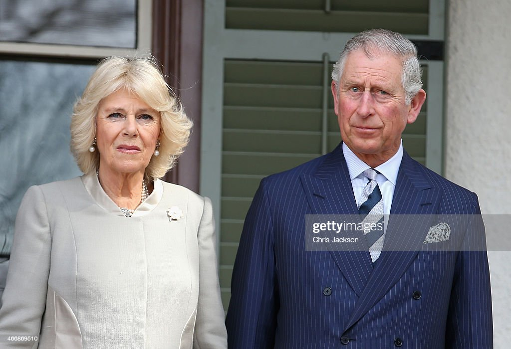 Prince Charles Prince of Wales and Camilla Duchess of Cornwall look on they visit Lincoln's Cottage on the third day of a visit to the United States...