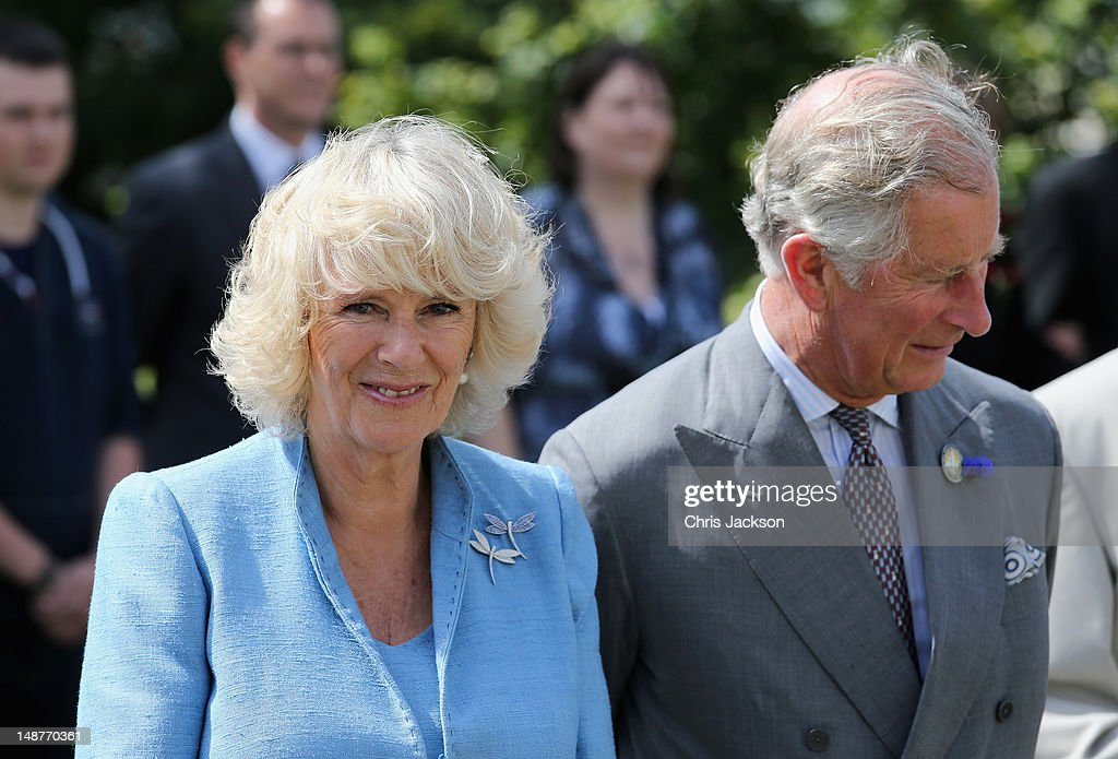 <a gi-track='captionPersonalityLinkClicked' href=/galleries/search?phrase=Prince+Charles+-+Prince+of+Wales&family=editorial&specificpeople=160180 ng-click='$event.stopPropagation()'>Prince Charles</a>, Prince of Wales and <a gi-track='captionPersonalityLinkClicked' href=/galleries/search?phrase=Camilla+-+Duchess+of+Cornwall&family=editorial&specificpeople=158157 ng-click='$event.stopPropagation()'>Camilla</a>, Duchess of Cornwall meet locals as they visit Herm Island on July 19, 2012 in Herm, United Kingdom. The Prince of Wales and the Duchess of Cornwall are in Herm as part of a Diamond Jubilee visit to the Channel Islands taking in Jersey, Guernsey and Sark
