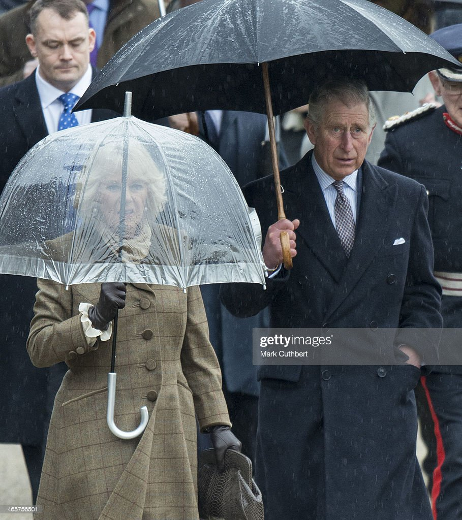 Prince Charles, Prince of Wales and Camilla, Duchess of Cornwall visit High House Production Park, a world-class centre for technical skills, crafts and artistic production and training, during an official visit to Essex on January 29, 2014 in Purfleet, United Kingdom.