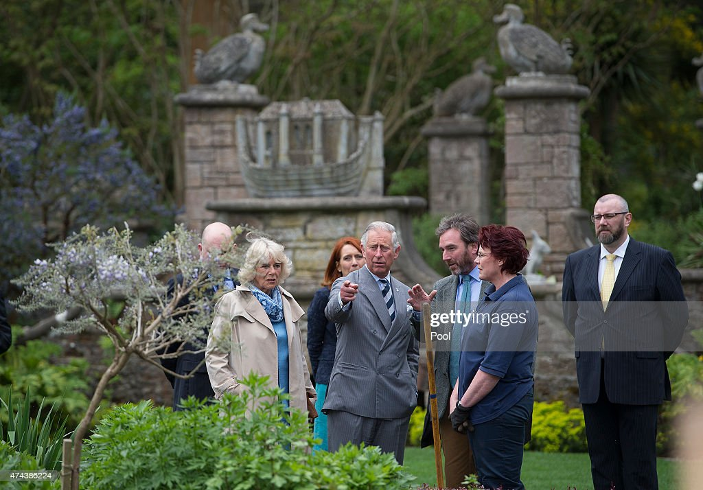 Prince Charles, Prince of Wales and Camilla, Duchess of Cornwall visit Mount Stewart House and Garden on May 22, 2015 in Newtownards, Northern Ireland. Prince Charles, Prince of Wales and Camilla, Duchess of Cornwall visited Mount Stewart House and Gardens and Northern Ireland's oldest peace and reconciliation centre Corrymeela on the final day of their visit of Ireland.