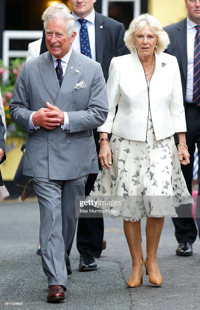 Prince Charles, Prince of Wales and Camilla, Duchess of Cornwall visit Padstow on day 1 of their annual summer tour of Cornwall on July 20, 2015 in Padstow, England.