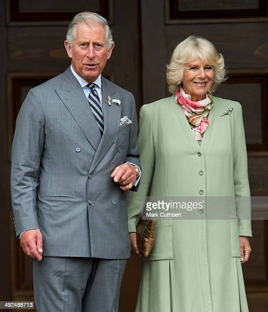 Prince Charles Prince of Wales and Camilla Duchess of Cornwall visit Province House on May 20 2014 in Prince Edward Island CanadaÊ