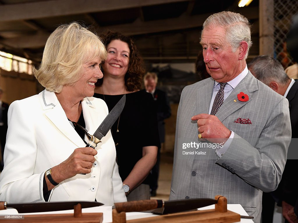 Prince Charles, Prince of Wales and Camilla, Duchess of Cornwall visit Seppeltsfield Winery on November 10, 2015 in Barossa Valley, Australia. The Royal couple are on a 12-day tour visiting seven regions in New Zealand and three states and one territory in Australia.