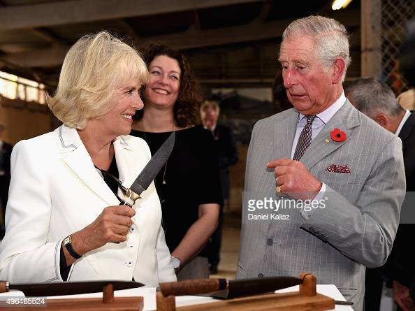 Prince Charles Prince of Wales and Camilla Duchess of Cornwall visit Seppeltsfield Winery on November 10 2015 in Barossa Valley Australia The Royal...