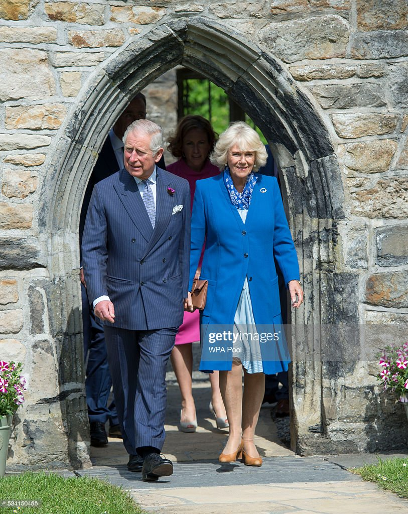 <a gi-track='captionPersonalityLinkClicked' href=/galleries/search?phrase=Prince+Charles&family=editorial&specificpeople=160180 ng-click='$event.stopPropagation()'>Prince Charles</a>, Prince of Wales and <a gi-track='captionPersonalityLinkClicked' href=/galleries/search?phrase=Camilla+-+Duchess+of+Cornwall&family=editorial&specificpeople=158157 ng-click='$event.stopPropagation()'>Camilla</a>, Duchess of Cornwall visit Donegal Castle on May 25, 2016 in Letterkenny, Ireland. The royal couple are on a one day visit to Ireland having spent two days across the border in Northern Ireland. It is their first trip to Donegal.