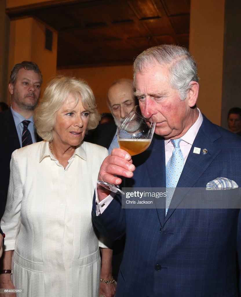 Prince Charles, Prince of Wales and Camilla, Duchess of Cornwall visit Sant'Ambrogio Market to celebrate the Slow Food movement and meet local food producers of the Abruzzo region and areas affected by the earthquakes of 2016, on April 3, 2017 in Florence, Italy. Slow Food is a global, grassroots organization, founded in 1989 by Carlo Petrini to prevent the disappearance of local food cultures and traditions and to counteract the rise of the fast food culture. It is an international movement involving millions of people in over 160 countries.