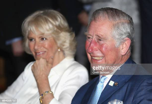 Prince Charles Prince of Wales and Camilla Duchess of Cornwall visit Sant'Ambrogio Market to celebrate the Slow Food movement and meet local food...