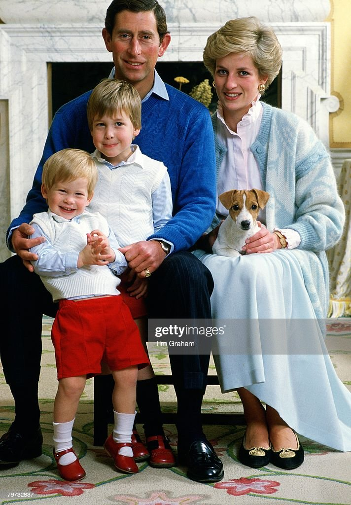 <a gi-track='captionPersonalityLinkClicked' href=/galleries/search?phrase=Prince+Charles&family=editorial&specificpeople=160180 ng-click='$event.stopPropagation()'>Prince Charles</a>, Prince of Wales and Diana, Princess of Wales at home in Kensington Palace with their sons Prince William and <a gi-track='captionPersonalityLinkClicked' href=/galleries/search?phrase=Prince+Harry&family=editorial&specificpeople=178173 ng-click='$event.stopPropagation()'>Prince Harry</a>