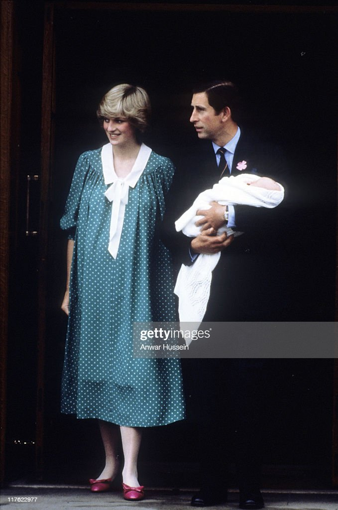 Prince Charles, Prince of Wales and Diana, Princess of Wales leave St Mary's Hospital with newborn baby Prince William on June 22, 1982 in London, England. On July 1st Diana, Princess Of Wales would have celebrated her 50th Birthday Please refer to the following profile on Getty Images Archival for further imagery. //www.gettyimages.co.uk/Search/Search.aspx?EventId=107811125&EditorialProduct=Archival //www.gettyimages.co.uk/Account/MediaBin/LightboxDetail.aspx?Id=17267941&MediaBinUserId=5317233 Following Diana's Death: //www.gettyimages.co.uk/Account/MediaBin/LightboxDetail.aspx?Id=18894787&MediaBinUserId=5317233 //www.gettyimages.co.uk/Account/MediaBin/LightboxDetail.aspx?Id=18253159&MediaBinUserId=5317233