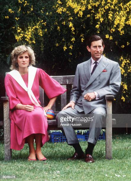 This file photo from December 1983 shows Diana Princess of Wales and her husband Prince Charles at Kensington Palace in London Diana told of a lonely...