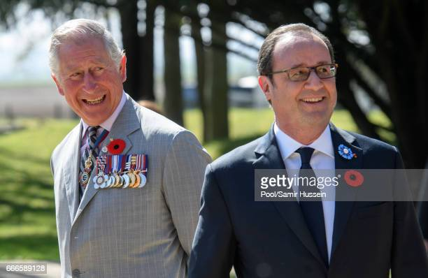 Prince Charles Prince of Wales and French President Francois Hollande attend the commemorations for the 100th anniversary of the battle of Vimy Ridge...