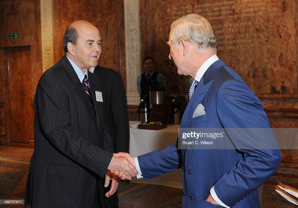 <a gi-track='captionPersonalityLinkClicked' href=/galleries/search?phrase=Prince+Charles+-+Prince+of+Wales&family=editorial&specificpeople=160180 ng-click='$event.stopPropagation()'>Prince Charles</a>, Prince of Wales and Gavin Neath (Co-Chair of the ISU) attend the reception launch of CDP's Global Forests Report 2013 at The Royal Society on November 20, 2013 in London, England.