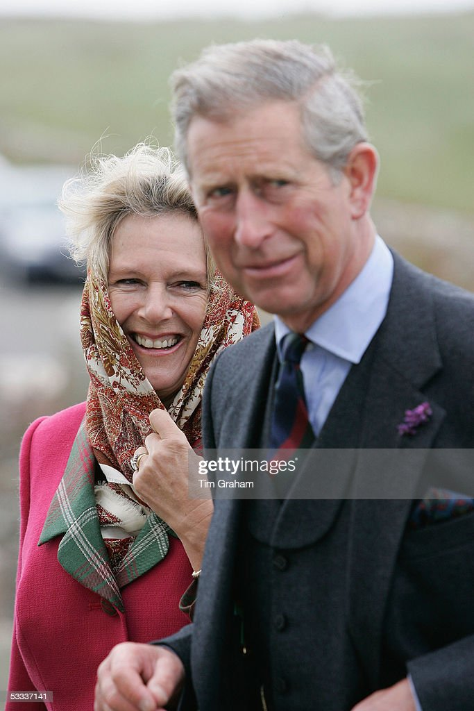 Prince Charles, Prince of Wales, and his wife Camilla, Duchess of Cornwall, as the Duke and Duchess of Rothesay, attend Sunday church service at Canisbay Church near the Castle of Mey, on August 7, 2005, in Caithness, Scotland.