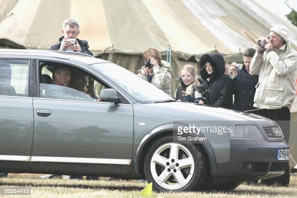 Prince Charles Prince of Wales and his wife Camilla Duchess of Cornwall in their role as the Duke and Duchess of Rothesay leave the Highland Mey...