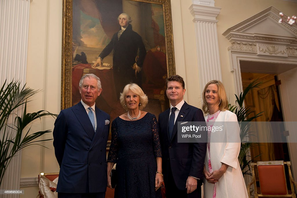 The Prince Of Wales And Duchess Of Cornwall Attend Reception At Winfield House Ahead Of Visit To The USA