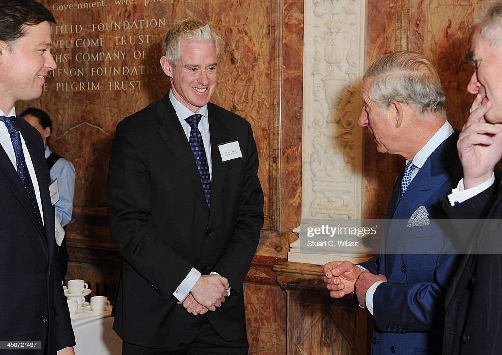 <a gi-track='captionPersonalityLinkClicked' href=/galleries/search?phrase=Prince+Charles+-+Prince+of+Wales&family=editorial&specificpeople=160180 ng-click='$event.stopPropagation()'>Prince Charles</a>, Prince of Wales and Mike Barry (Director, Plan A, Marks and Spencer) attend the reception launch of CDP's Global Forests Report 2013 at The Royal Society on November 20, 2013 in London, England.
