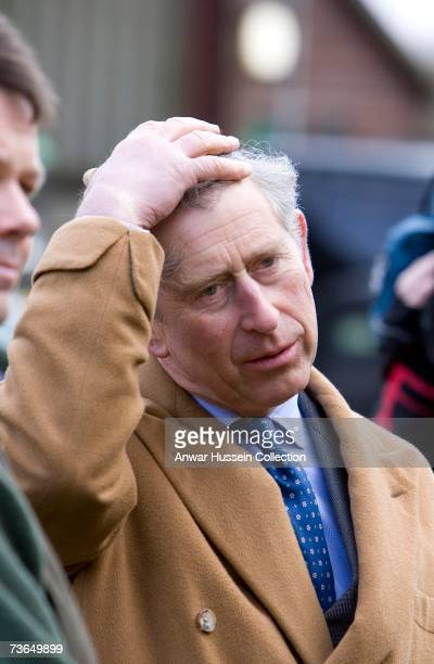 Prince Charles Prince of Wales arrives at Bank Farm to see how local produce is selling on March 20 2007 in Maidstone England