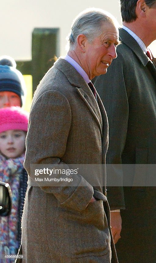 <a gi-track='captionPersonalityLinkClicked' href=/galleries/search?phrase=Prince+Charles&family=editorial&specificpeople=160180 ng-click='$event.stopPropagation()'>Prince Charles</a>, Prince of Wales arrives at St. Mary Magdalene Church, Sandringham to attend Sunday service on December 29, 2013 near King's Lynn, England.