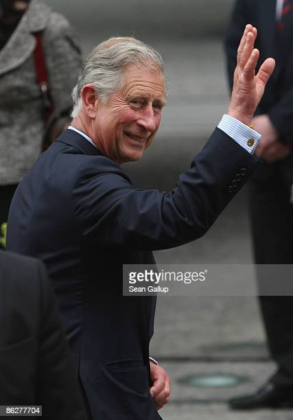 Prince Charles Prince of Wales arrives at the British Embassy on April 29 2009 in Berlin Germany Prince Charles and his wife Camilla are on a twoday...