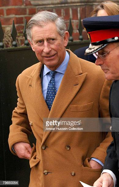 Prince Charles Prince of Wales arrives for a luncheon at Turkey Mill on March 20 2007 in Maidstone England