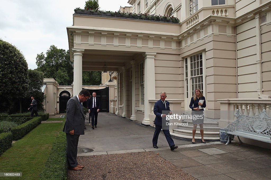 Prince Charles, Prince of Wales arrives for a reception to celebrate the 21st anniversary of Duchy originals products at Clarence House on September 11, 2013 in London, England. The reception was held in the gardens of Clarence House, and attended by Duchy suppliers, Waitrose and other international stockists, customers, charitable beneficiaries and representatives of some of the charities who benefit from the sale of the products.