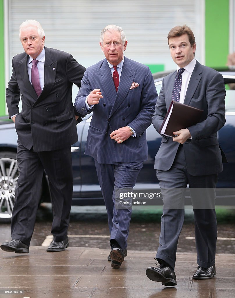 <a gi-track='captionPersonalityLinkClicked' href=/galleries/search?phrase=Prince+Charles+-+Prince+of+Wales&family=editorial&specificpeople=160180 ng-click='$event.stopPropagation()'>Prince Charles</a>, Prince of Wales arrives to visit Circle Sports in North London on January 29, 2013 in London, England. The Prince of Wales, President, Business in the Community, led a group of senior business leaders on a Seeing is Believing visit to an organisation supported by BITC, Circle Sports.