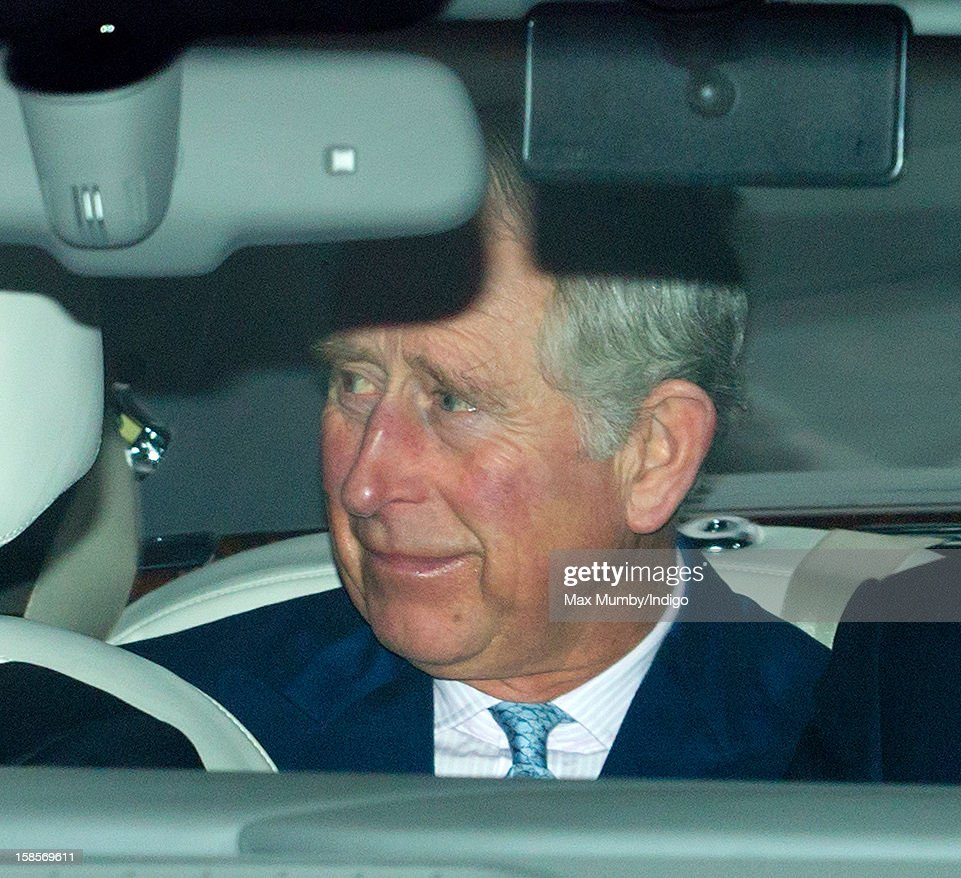 Prince Charles, Prince of Wales attends a Christmas lunch for members of the Royal Family hosted by Queen Elizabeth II at Buckingham Palace on December 19, 2012 in London, England.