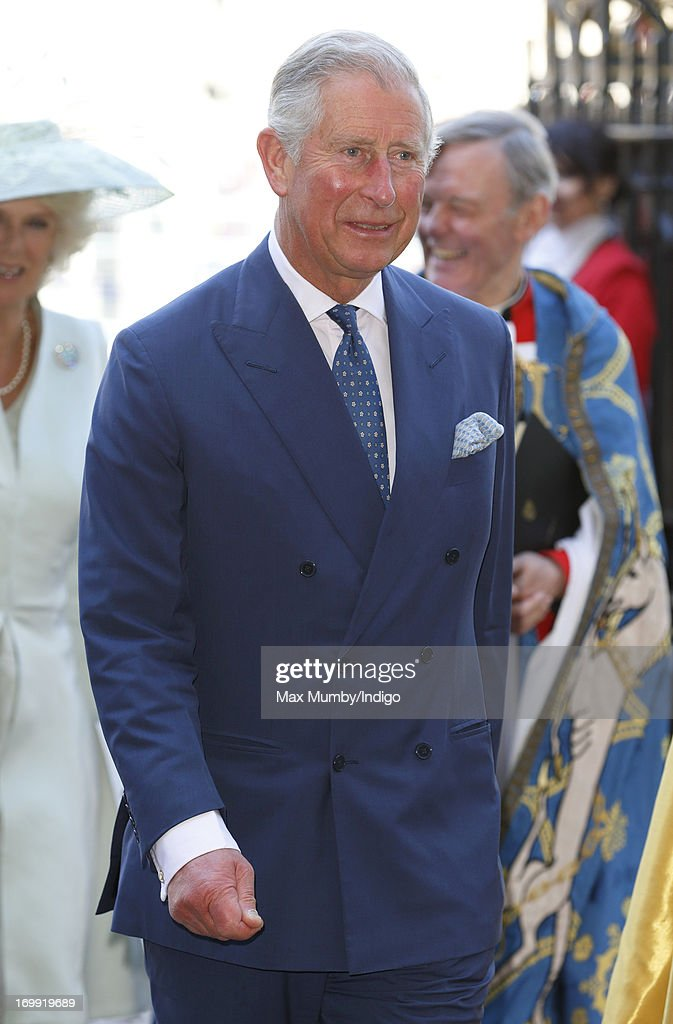 Prince Charles, Prince of Wales attends a service of celebration to mark the 60th anniversary of the Coronation of Queen Elizabeth II at Westminster Abbey on June 4, 2013 in London, England. The Queen's Coronation took place on June 2, 1953 after a period of mourning for her father King George VI, following her ascension to the throne on February 6, 1952. The event 60 years ago was the first time a coronation was televised for the public.