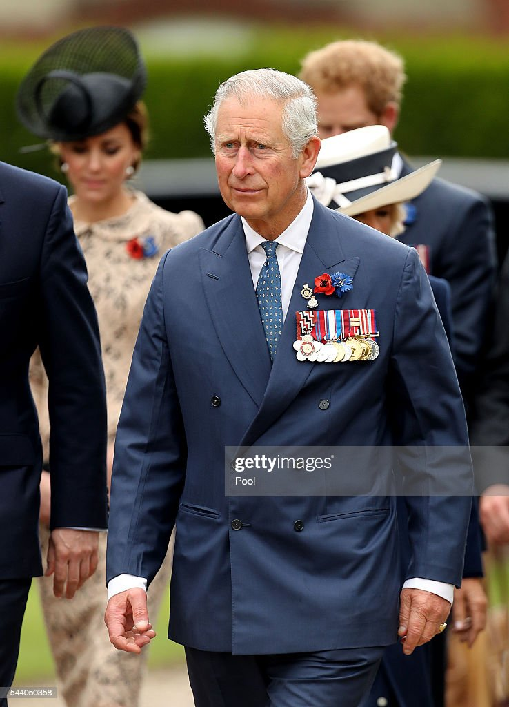 <a gi-track='captionPersonalityLinkClicked' href=/galleries/search?phrase=Prince+Charles+-+Prince+of+Wales&family=editorial&specificpeople=160180 ng-click='$event.stopPropagation()'>Prince Charles</a>, Prince of Wales attends a service to mark the 100th anniversary of the beginning of the Battle of the Somme at the Thiepval memorial to the Missing on July 1, 2016 in Thiepval, France. The event is part of the Commemoration of the Centenary of the Battle of the Somme at the Commonwealth War Graves Commission Thiepval Memorial in Thiepval, France, where 70,000 British and Commonwealth soldiers with no known grave are commemorated.