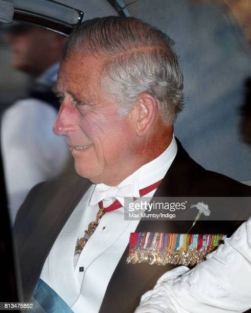 Prince Charles Prince of Wales attends a State Banquet at Buckingham Palace on day 1 of the Spanish State Visit on July 12 2017 in London England...