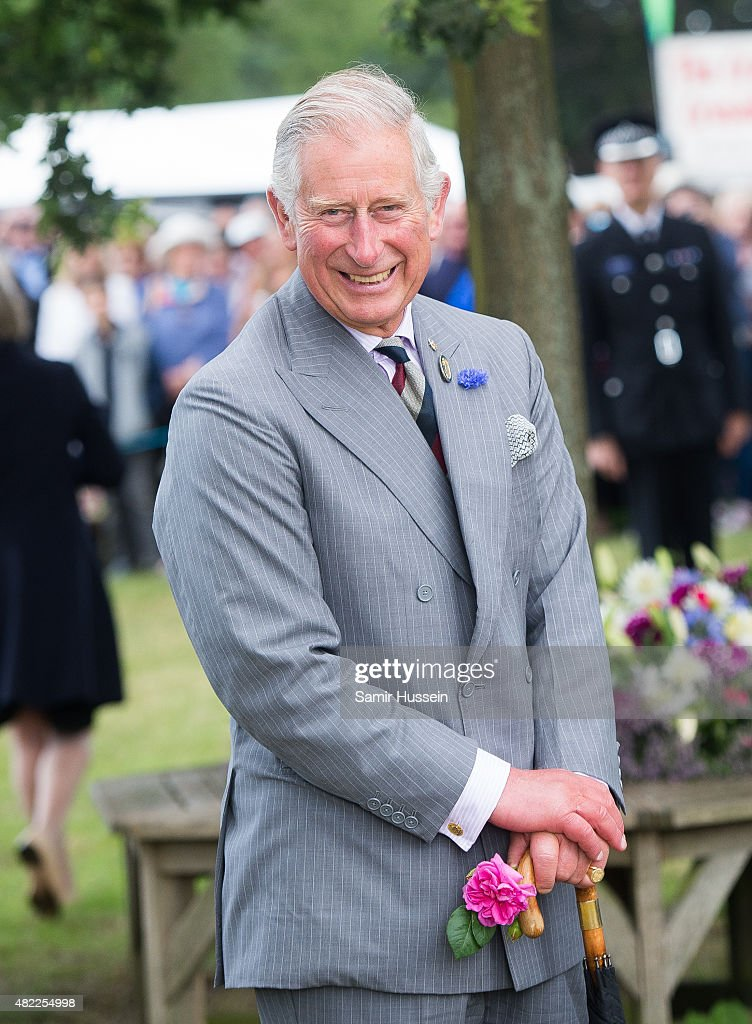 Prince Charles Prince of Wales attends Sandringham Flower Show at Sandringham on July 29 2015 in King's Lynn England