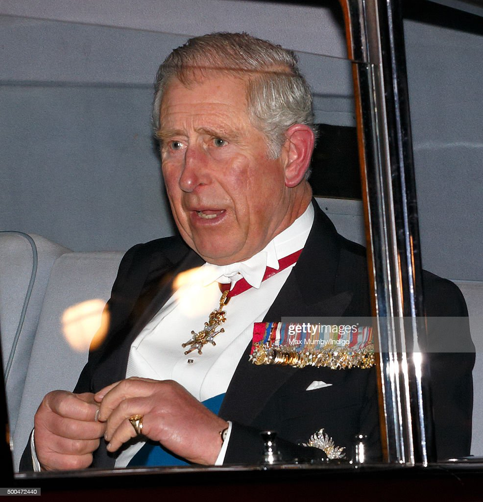 Prince Charles, Prince of Wales attends the annual Diplomatic Reception at Buckingham Palace on December 8, 2015 in London, England.