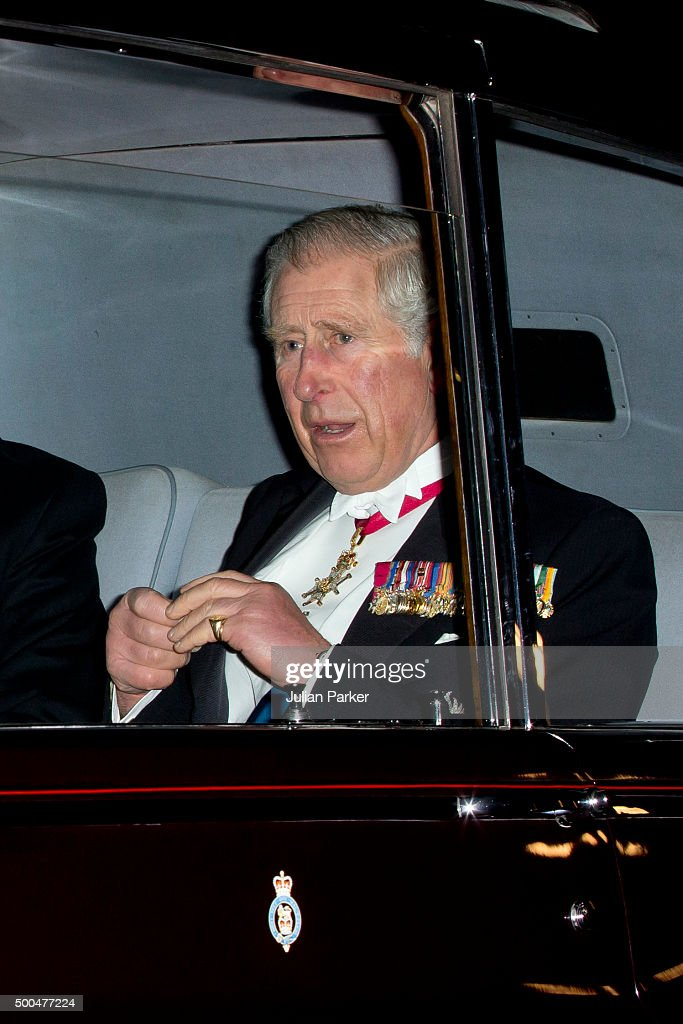 Prince Charles, Prince of Wales, attends the annual Diplomatic Reception at Buckingham Palace on December 8, 2015 in London, England..(Photo by Julian Parker/UK Press via Getty Images