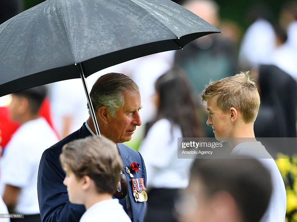 Prince Charles (L), Prince of Wales attends the ceremony to mark the centenary of the Battle of the Somme at the Thiepval monument, in Thiepval, near Amiens, northern France on July 01, 2016. The Battle of the Somme remains as one of the most deadly battles of the First World War.