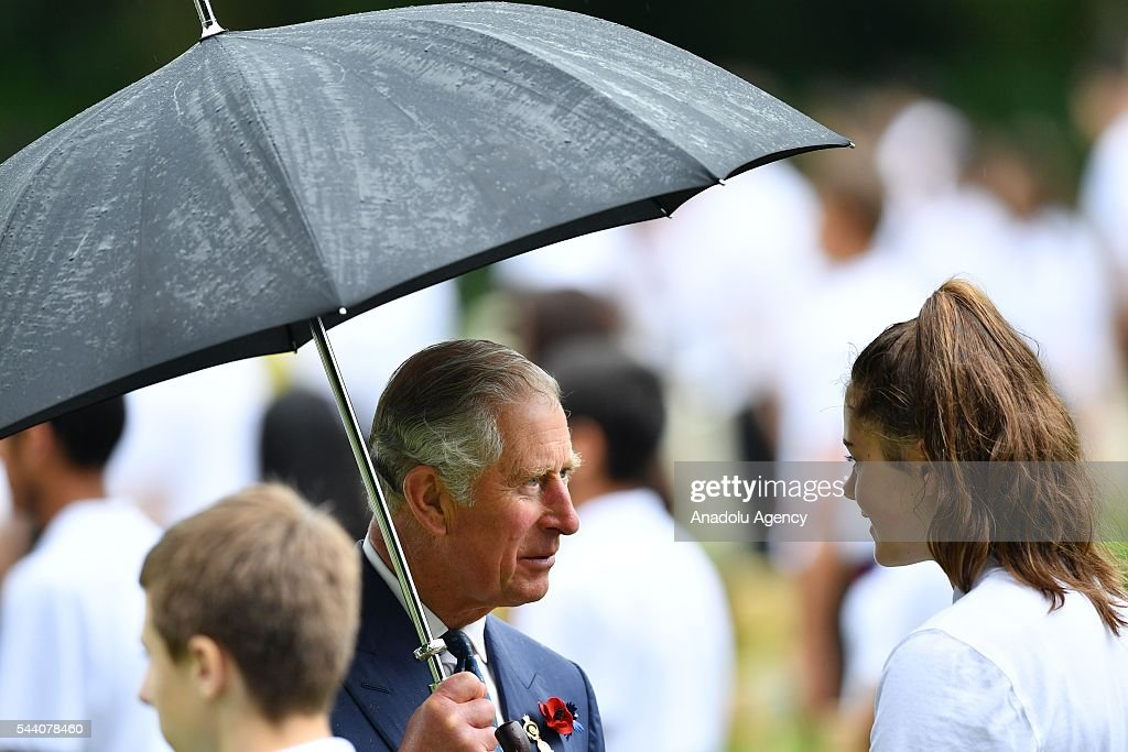Prince Charles (L), Prince of Wales attends the ceremony to mark the centenary of the Battle of the Somme at the Thiepval monument, in Thiepval, near Amiens, northern France, 01 July 2016. The Battle of the Somme remains as one of the most deadly battles of the First World War.