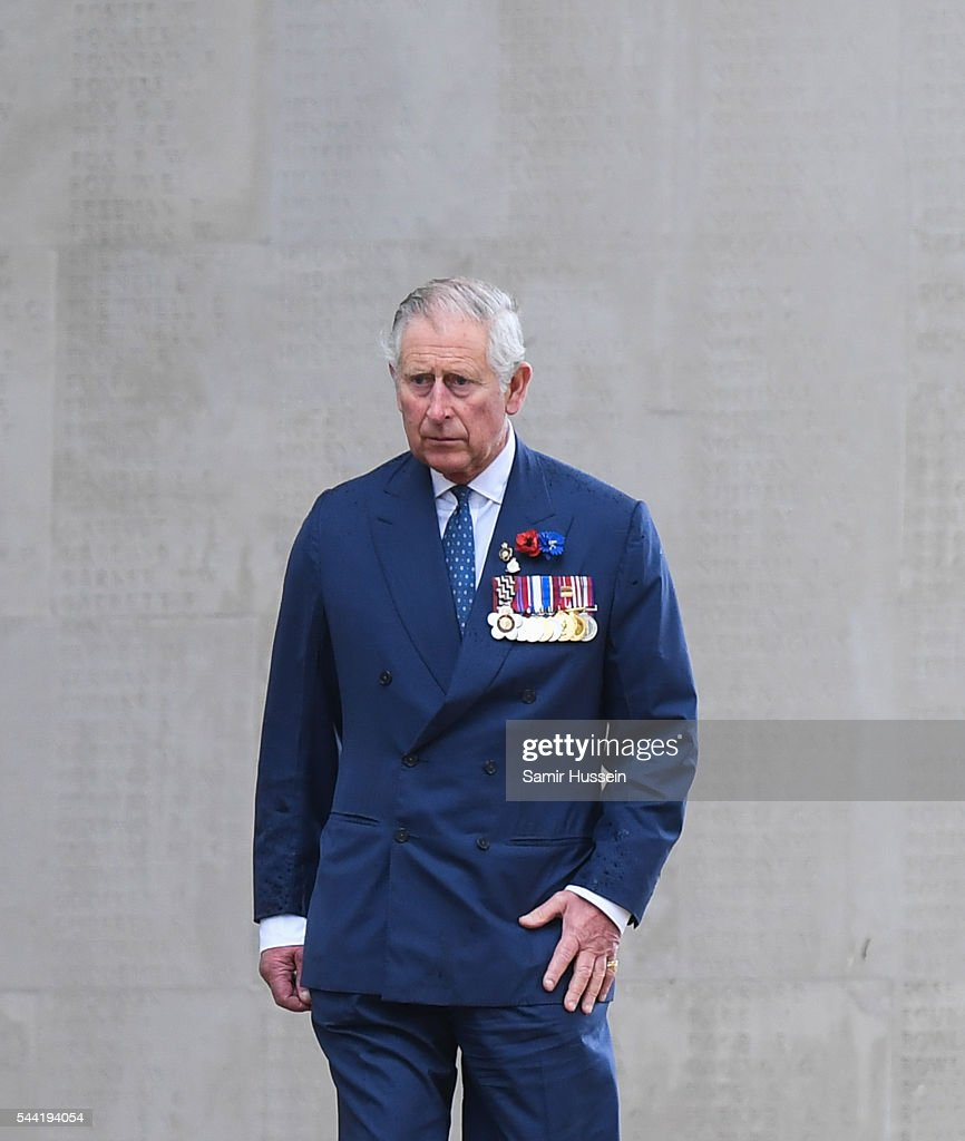 <a gi-track='captionPersonalityLinkClicked' href=/galleries/search?phrase=Prince+Charles+-+Prince+of+Wales&family=editorial&specificpeople=160180 ng-click='$event.stopPropagation()'>Prince Charles</a>, Prince of Wales attends the commemoration of the Battle of the Somme at the Commonwealth War Graves Commission Thiepval Memorial on July 1, 2016 in Thiepval, France.