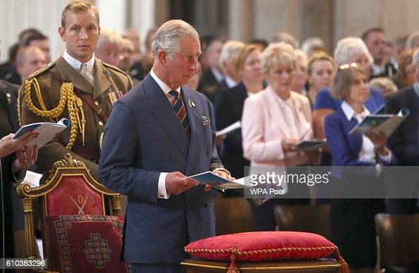 Prince Charles Prince of Wales attends the National Police Memorial Service at St Paul's Cathedral on September 25 2016 in London England