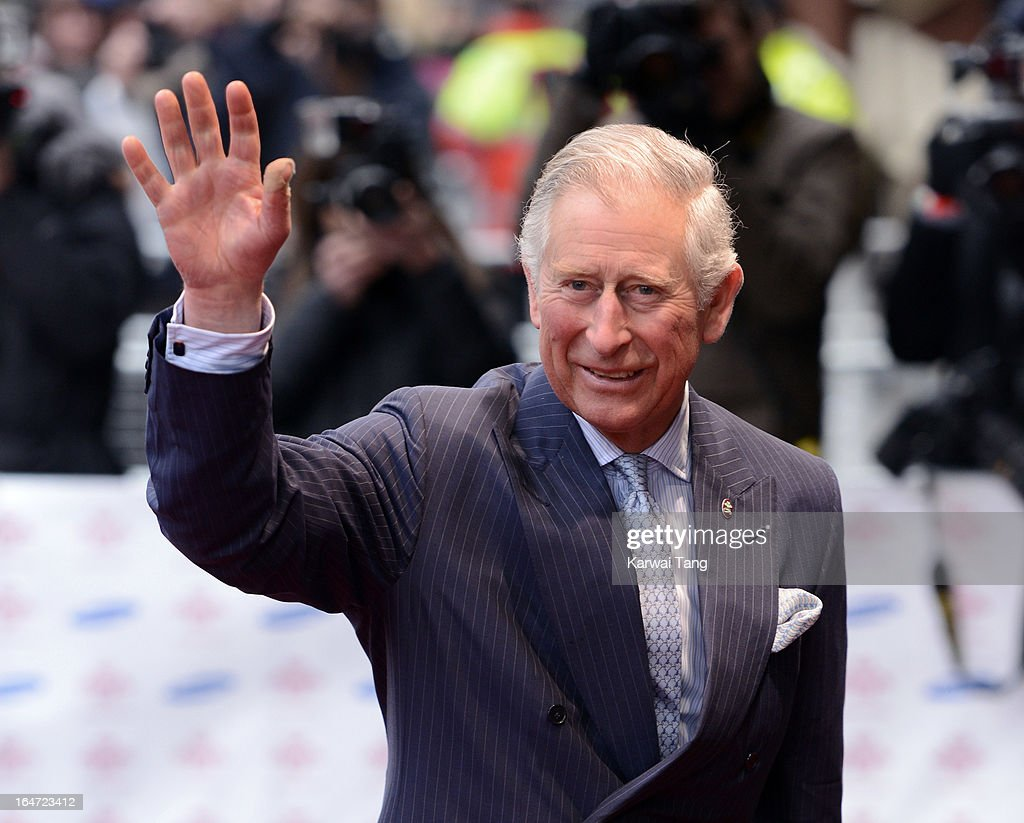 HRH Prince Charles Prince of Wales attends the Prince's Trust Celebrate Success Awards at Odeon Leicester Square on March 26, 2013 in London, England.