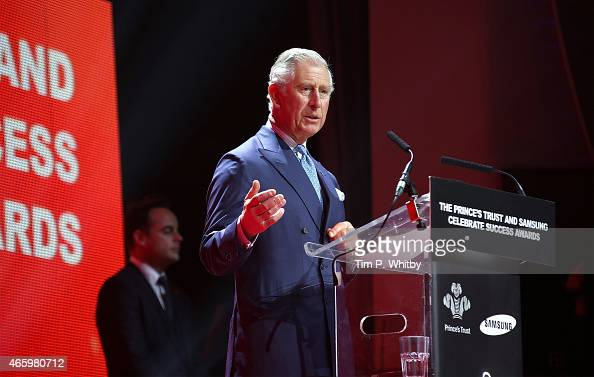 Prince Charles Prince of Wales attends The Prince's Trust Celebrate Success Awards at Odeon Leicester Square on March 12 2015 in London England