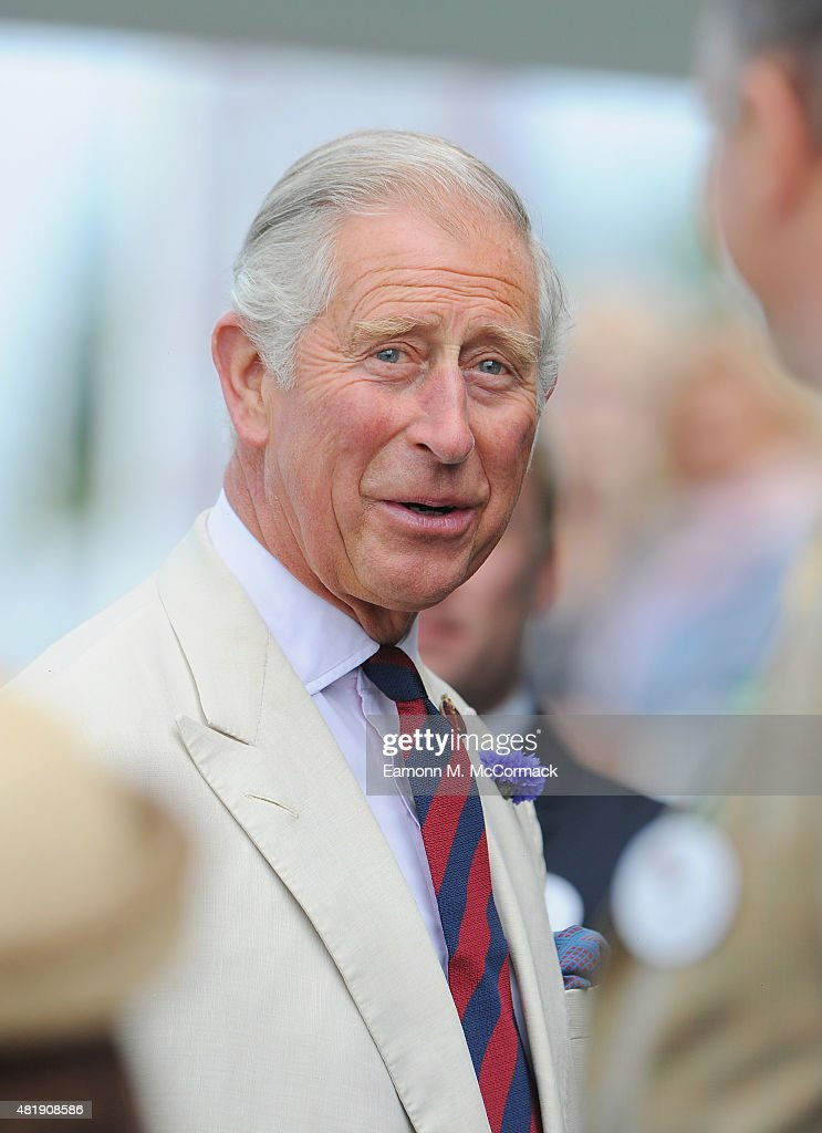 Prince Charles, Prince Of Wales attends the Royal Salute Coronation Cup at Guards Polo Club on July 25, 2015 in Egham, England.