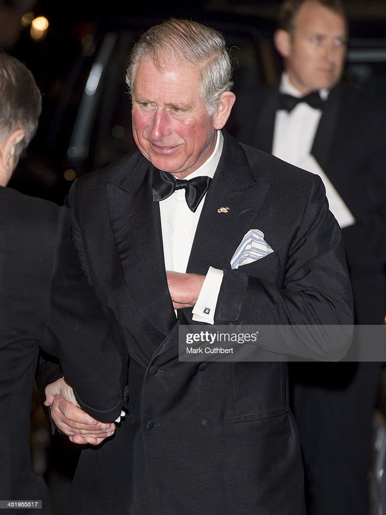 Prince Charles, Prince of Wales attends the Royal Variety Performance at London Palladium on November 25, 2013 in London, England.
