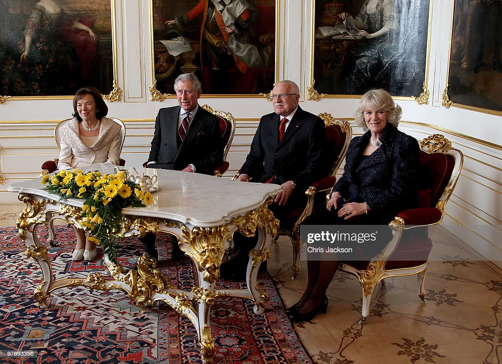 Charles And Camilla Visit Czech Republic - Day 1