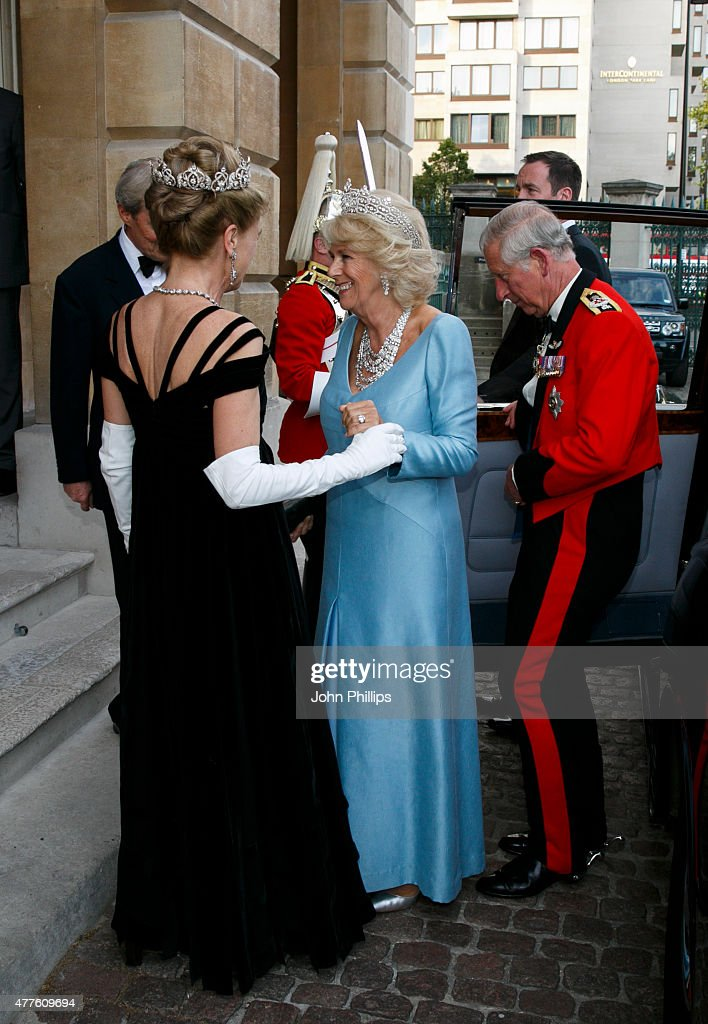 Prince Charles, Prince of Wales & Camilla, Duchess Of Cornwall attends The Duke of Wellington's Waterloo banquet at Apsley House on June 18, 2015 in London, England.