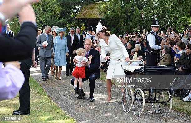 Prince Charles Prince of Wales Camilla Duchess of Cornwall Prince George of Cambridge Prince William Duke of Cambridge and Catherine Duchess of...