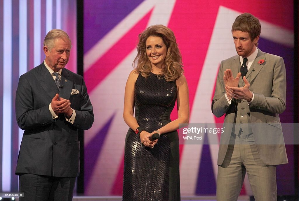 Prince Charles, Prince of Wales, Carol Vorderman and Bradley Wiggins attend the Pride Of Britain awards at the Grosvenor House Hotel, on October 29, 2012 in London, England.