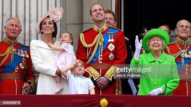 Prince Charles Prince of Wales Catherine Duchess of Cambridge Princess Charlotte Prince George Prince William Duke of Cambridge Prince Harry Queen...