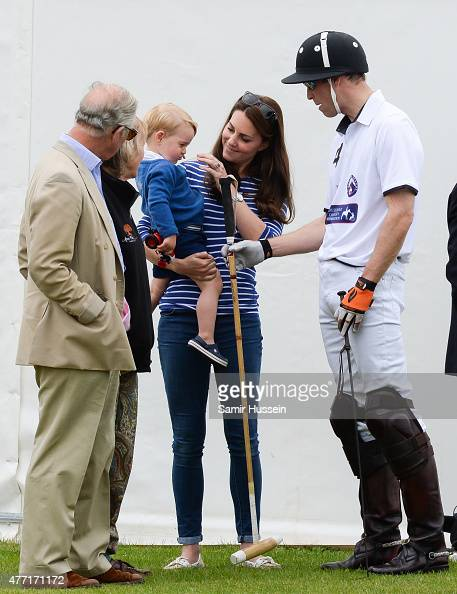 Prince Charles Prince of Wales Catherine Duchess of Cambridge Prince William Duke of Cambridge and Prince George of Cambridge attend the Gigaset...