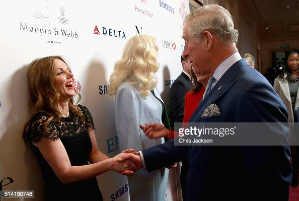 Prince Charles Prince of Wales chats with Geri Horner and Rita Ora during the Prince's Trust Celebrate Success Awards at the London Palladium on...