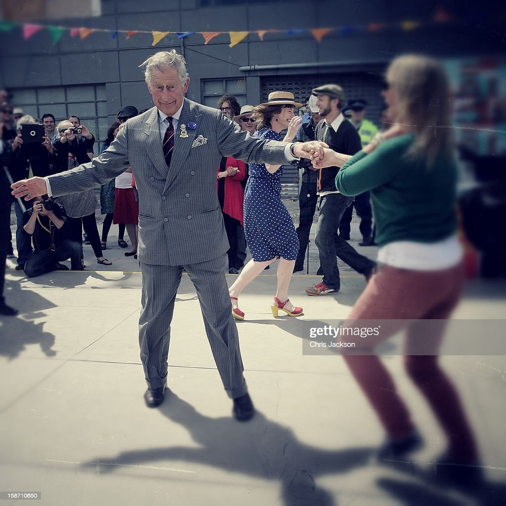 <a gi-track='captionPersonalityLinkClicked' href=/galleries/search?phrase=Prince+Charles&family=editorial&specificpeople=160180 ng-click='$event.stopPropagation()'>Prince Charles</a>, Prince of Wales dances with Lisa Shannon at the Dance-O-Mat during a visit to Christchurch on November 16, 2012 in Christchurch, New Zealand. The Dance-O-Mat was set up to give people the opportunity to keep dancing after many of the venues were destroyed by the earthquake of 2010. The Royal couple are in New Zealand on the last leg of a Diamond Jubilee that takes in Papua New Guinea, Australia and New Zealand.